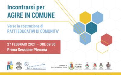 INCONTRARSI PER AGIRE IN COMUNE (comunicato stampa)